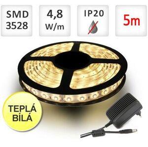 LED21 SADA LED pásek 5m 4,8W/m 60ks/m 2835 Teplá Bílá