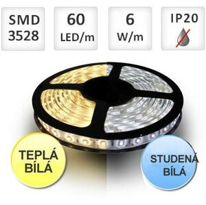 PREMIUMLUX LED pásek 60ks/m SMD2835 6W/m 1m, BI-COLOR