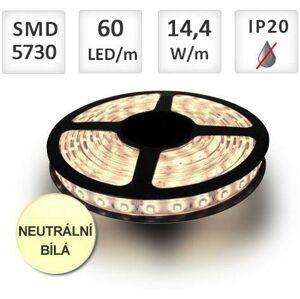 PREMIUMLUX LED pásek PROFI 60ks/m SMD5730 14,4W/m, Neutrální bílá, cena za 1m