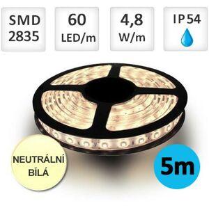 LED21 LED pásek 5m 4,8W/m 60ks/m 2835 Neutrální bílá voděodolný