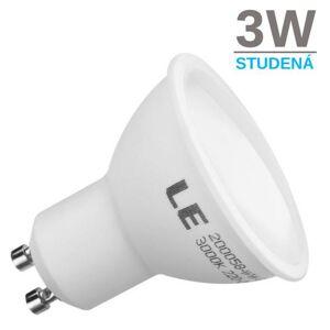 LED21 LED žárovka 3W 5xSMD2835 GU10 280lm Studená bílá