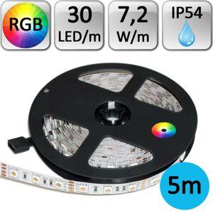 LED21 LED pásek RGB 5050 5m 7,2W/m 30LED/m IP54 voděodolný