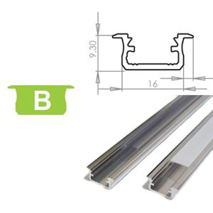LEDLabs Hliníkový profil LUMINES B zápustný 3m pro LED pásky, hliník