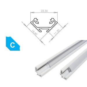 LEDLabs Hliníkový profil LUMINES C 2m pro LED pásky, lakovaný bílý