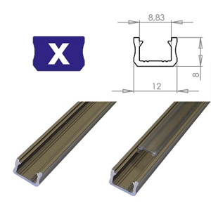 LEDLabs Hliníkový profil LUMINES X 2m pro LED pásky, inox