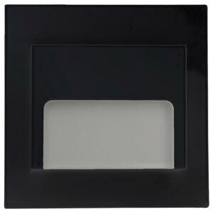 PREMIUMLUX LED nástěnné schodišťové svítidlo ONTARIO černé 1,5W 9xSMD3014 12V DC studená bílá LUX02081