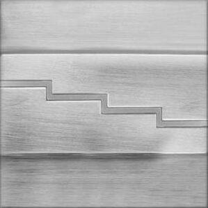 Provero LED nástěnné schodišťové svítidlo SECRETO Matný chrom 1,2W 12xSMD3014 12V DC studená bílá OS1280