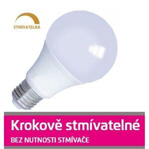 Emos LED žárovka 10W SMD2835 E27 806lm Teplá bílá, krokově STMÍVATELNÁ ZL4201